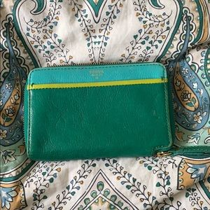 Fossil blue/green wallet